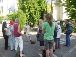 Stadtführung im Stuttgarter Westen.